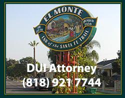 El Monte DUI Attorney